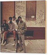 African American Teenage Street Gang Wood Print