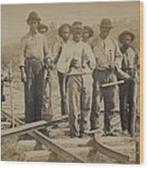 African American Work Team Wood Print by Everett