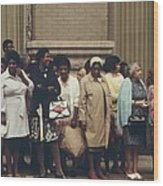 African Americans Mostly Women Waiting Wood Print