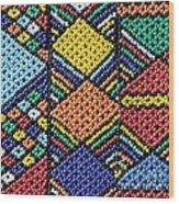 African Beadwork 2 Wood Print
