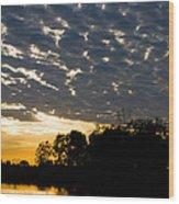African Sunrise 3 Wood Print