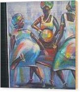 African Women Wood Print