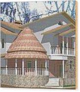 Afroexpressionism House Wood Print