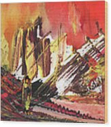 After The Earthquake Wood Print