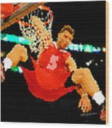 After The Slam Dunk Wood Print