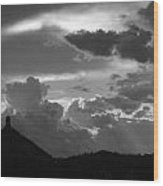 After The Storm Chimney Rock Wood Print