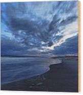 Afterglow On Fire Island Wood Print