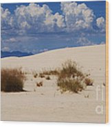Afternoon At White Sands National Monument Wood Print