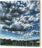 Afternoon By The Bridge 2 Wood Print by Heather  Boyd
