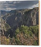 Afternoon Clouds Over Black Canyon Of The Gunnison Wood Print