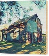 Afternoon Light On Barn Wood Print