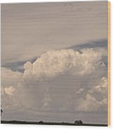 Afternoon Thunderstorm Building Boulder County Co Plains  Wood Print