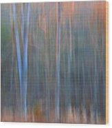 Afternoon Trees Wood Print