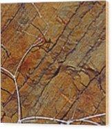 Against Rock Wood Print
