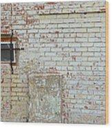 Aged Brick Wall With Character Wood Print