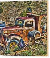 Aging Truck Wood Print