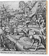 Agriculture: Spring, C1555 Wood Print