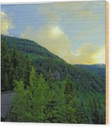 Ah To Live On Vail Mountain Wood Print