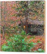 Ahwahnee Cabin Light Wood Print