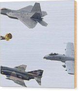 Air Force Heritage Flight Luke Afb March 19 2011 Wood Print