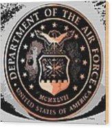 Air Force Medallion Wood Print