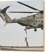 Air Force Pararescuemen Conduct Wood Print