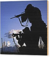 Air Force Security Forces Personnel Wood Print