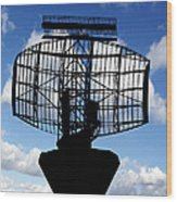 Air Traffic Control Radar Wood Print