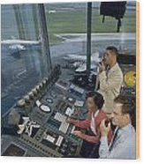 Air Traffic Controllers Direct Traffic Wood Print