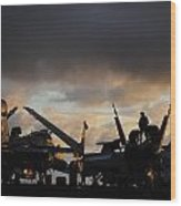 Aircraft Carrier Wood Print by Ahp