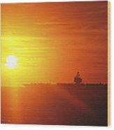 Aircraft Carrier Uss Enterprise Wood Print