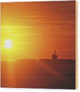 Aircraft Carrier Uss Enterprise Wood Print by Stocktrek Images