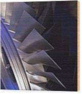 Aircraft Engine Fan Blades. Wood Print