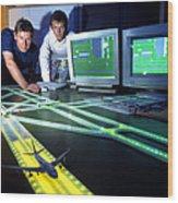 Airfield Lighting Simulation Wood Print