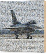 Airforce F-4866 Mosaic  Wood Print by Darleen Stry