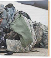 Airman Provides Security At Whiteman Wood Print