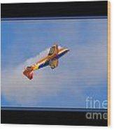 Airplane In Flight Wood Print