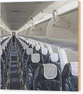 Airplane Seating Wood Print