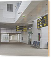 Airport Concourse Wood Print