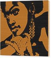Aisha Wood Print by Naxart Studio