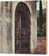 Ajijic Cemetary Crypt Wood Print