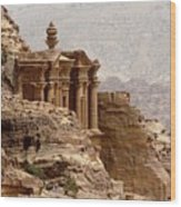 Al-deir (monastery) Wood Print by Cute Kitten Images