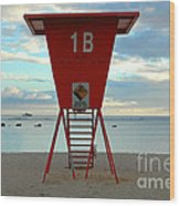Ala Moana Lifeguard Station Wood Print