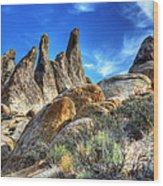 Alabama Hills Granite Fingers Wood Print