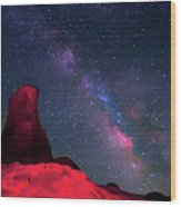 Alabama Hills Tower And Milky Way Wood Print by Bill Wight CA