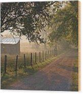 Alabama Morning Wood Print by Don F  Bradford