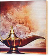 Aladdin Lamp Wood Print