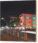 Alamo Plaza Wood Print