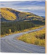 Alaska Highway Near Beaver Creek Wood Print