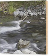 Alaskan Brook Wood Print